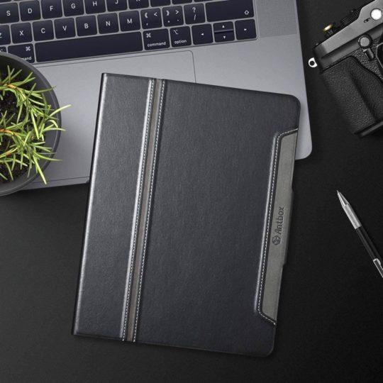 Premium eco-friendly leather iPad 10.2 folio stand