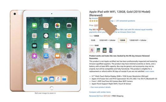 Refurbished iPads on Amazon - tips and tricks