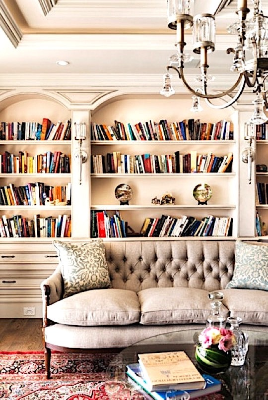 River Front Residence Library - home library ideas