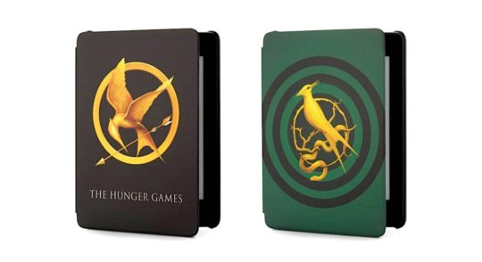 The Hunger Games case covers are part of Kindle Paperwhite bundle