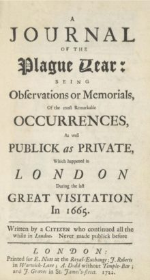 A Journal of the Plague Year by Daniel Defoe - most downloaded free ebooks