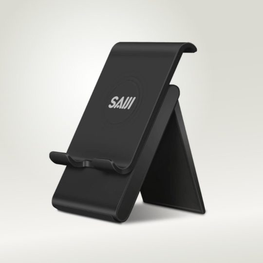 Foldable multi-angle stand with height adjustment