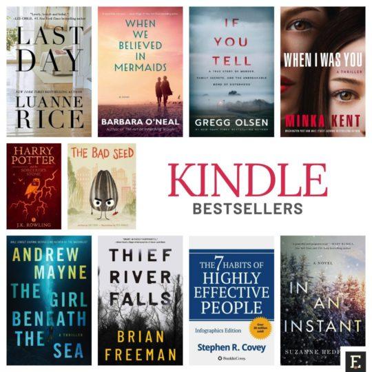Amazon Kindle ebook bestsellers of 2020