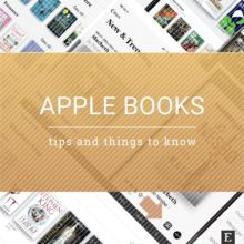 Apple Books tips facts