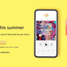 Audible prolong deal summer 2020 - save 46% for 4 months
