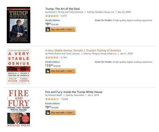 Discounted Donald Trump Kindle books
