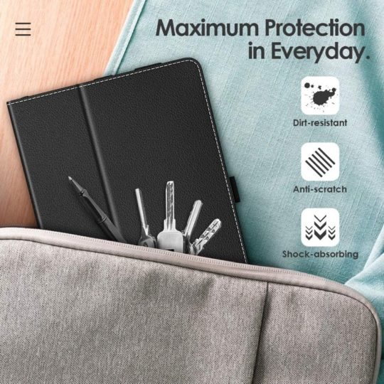 Fire HD 8 2020 folio stand case with hands strap