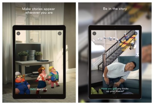 Wonderscope augmented reality iPad book app for kids