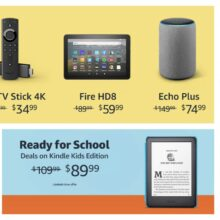 Back-to-school Kindle and Fire offers 2020