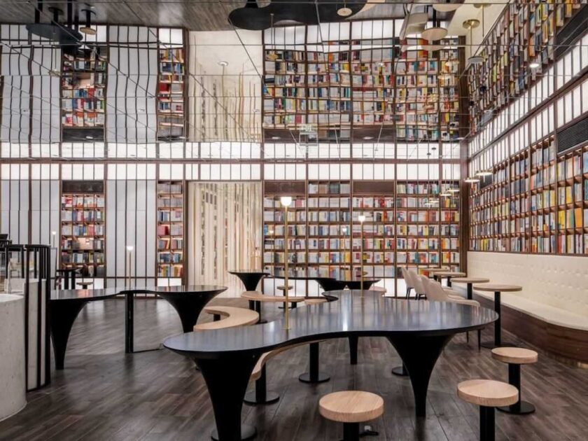Beijing bookstore reading area