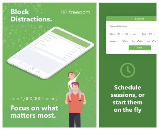 Freedom Block Distractions - best iPad apps for students