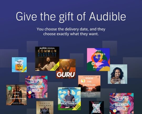 Audible Premium Plus gift plan - best gifts for audiobook lovers