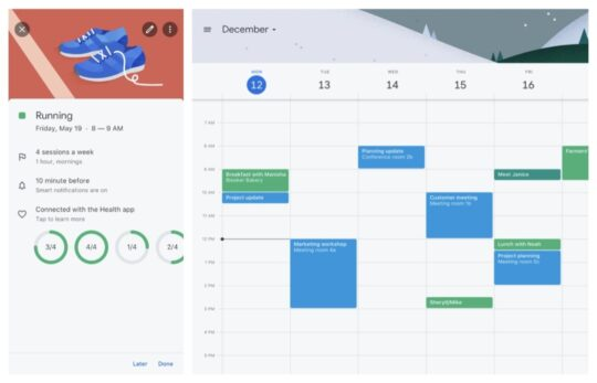 Google Calendar GCal - helpful iPad apps students