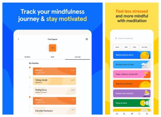 Headspace Meditation and Sleep - best iPad apps for students