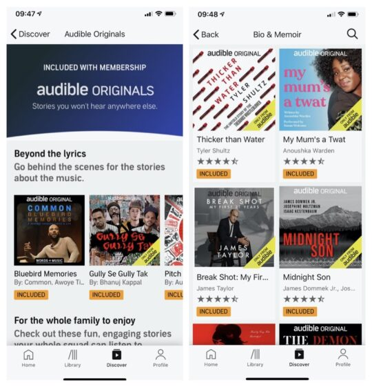 How to use Audible Plus plan