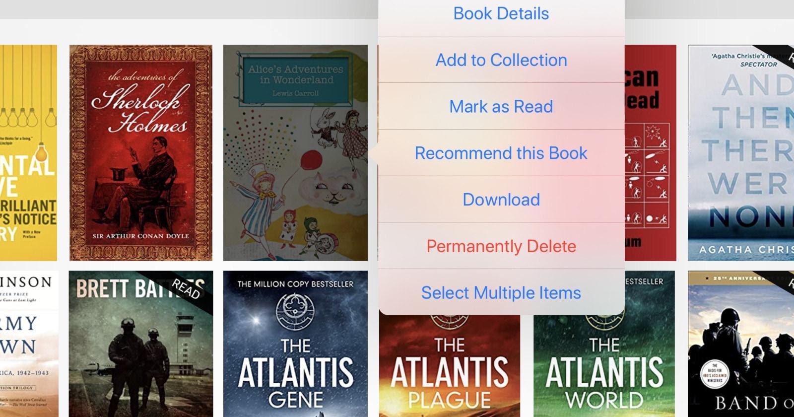 Permanently delete Kindle books in Amazon Kindle app on iPad