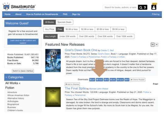 Download free ebooks for Kindle - Smashwords