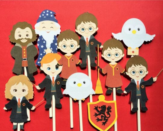 Harry Potter cupcake toppers - best gifts for wizards