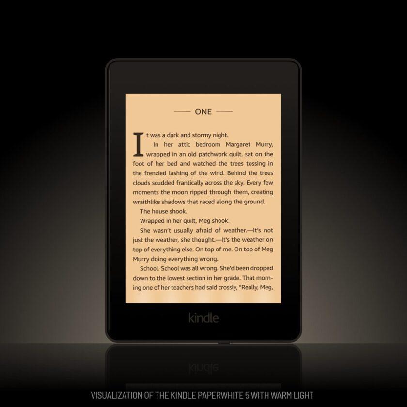 Kindle Paperwhite 5 warm light visualization