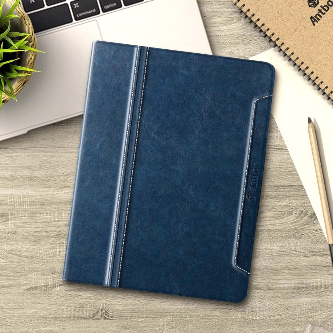 Navy Blue iPad 10.2 2021 and 2020 innovative folio stand case