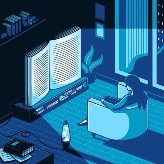 Netflix habits for reading books - illustration by Elia Colombo