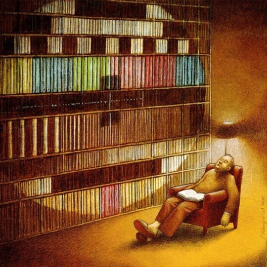 Netflix habits to read books - illustration by Pawel Kuczynski