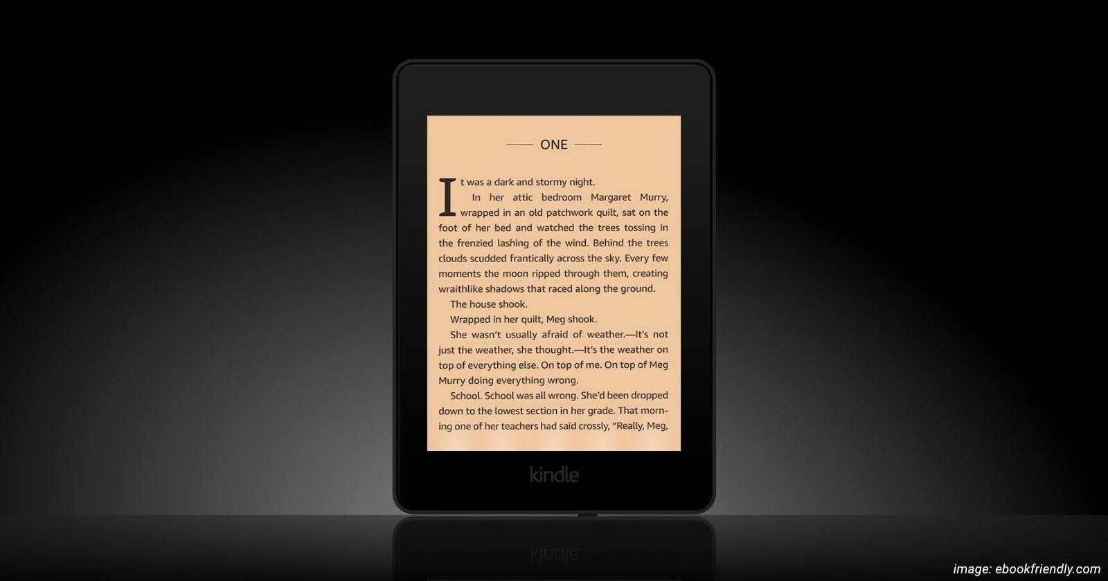 Visualization Kindle Paperwhite 5 warm light