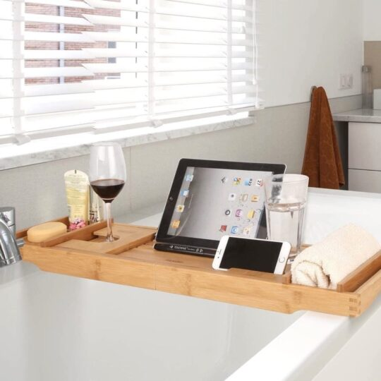 iPad compatible bathtub tray - best accessories in 2021
