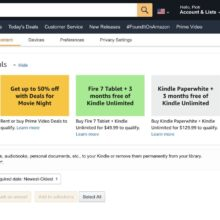 Amazon now displays personalized Kindle deals for logged-in users