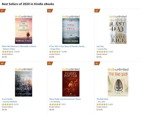 Kindle Unlimited books Top 100 bestsellers