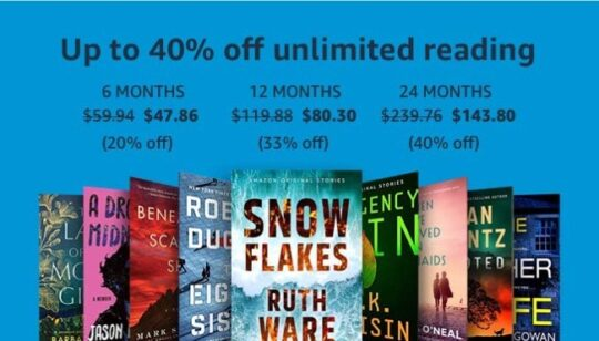 Kindle Unlimited long-term plans deal Prime Day - not only for Prime members