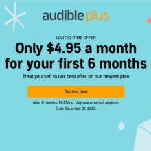 Save almost 40% on the 6-month Audible Plus audiobook membership