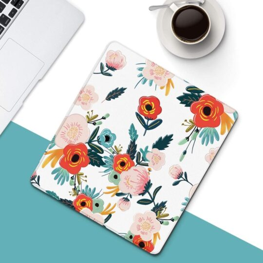 Fashionable floral smart cover for Kindle Oasis