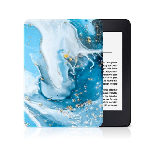 Fashionable marble gold Amazon Kindle cover