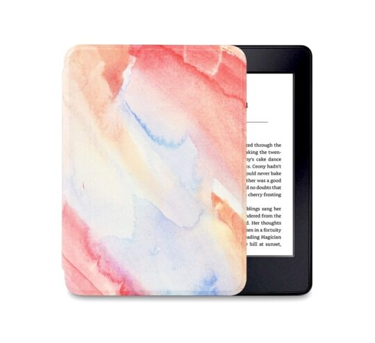 Fashionable watercolor cover for Kindle Paperwhite 4