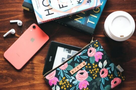 Floral Kindle zipper sleeve custom monogram