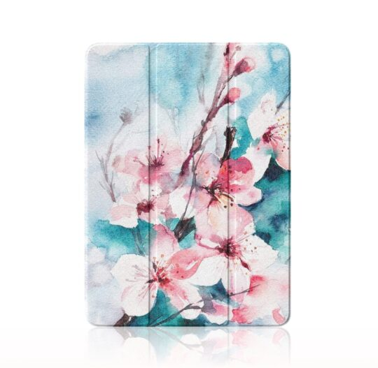 Floral watercolor iPad Air 4 tri-fold case