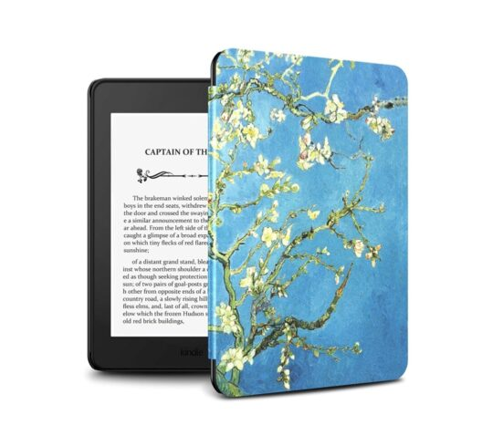 Slim Kindle Paperwhite 4 cover with floral design