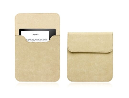 Soft suede Kindle Oasis sleeve pouch