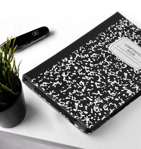 Composition book Amazon Fire HD 10 tri-fold case