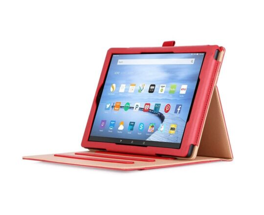 Eco leather stand case for 10-inch Amazon Fire tablet