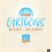50 clever cartoons for people who love books and reading