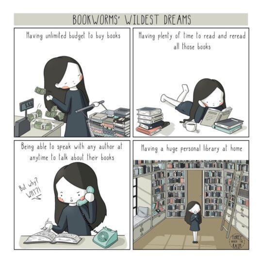 Bookworm's Wildest Dreams - best cartoons about books