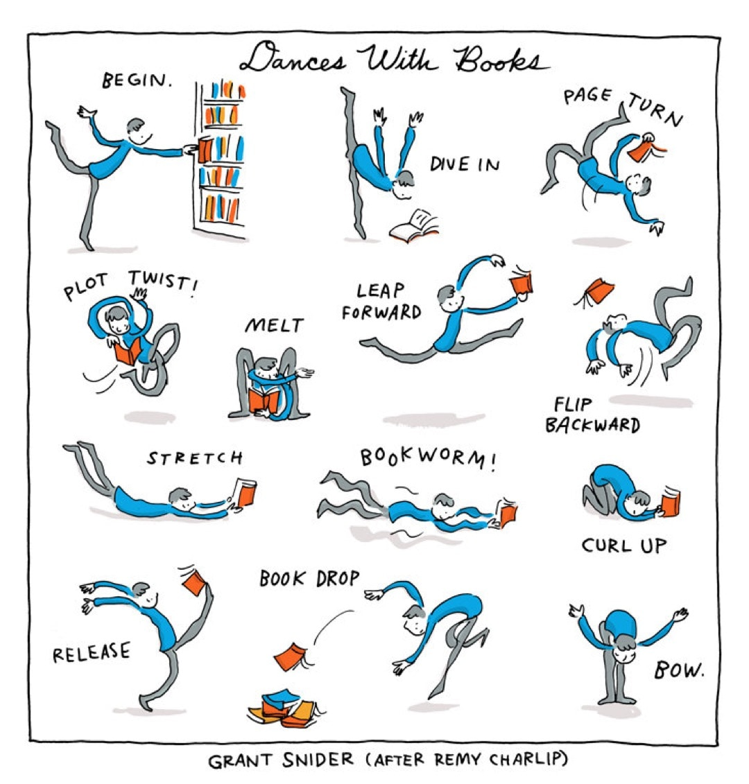 Dances with Books by Grant Snider - best cartoons