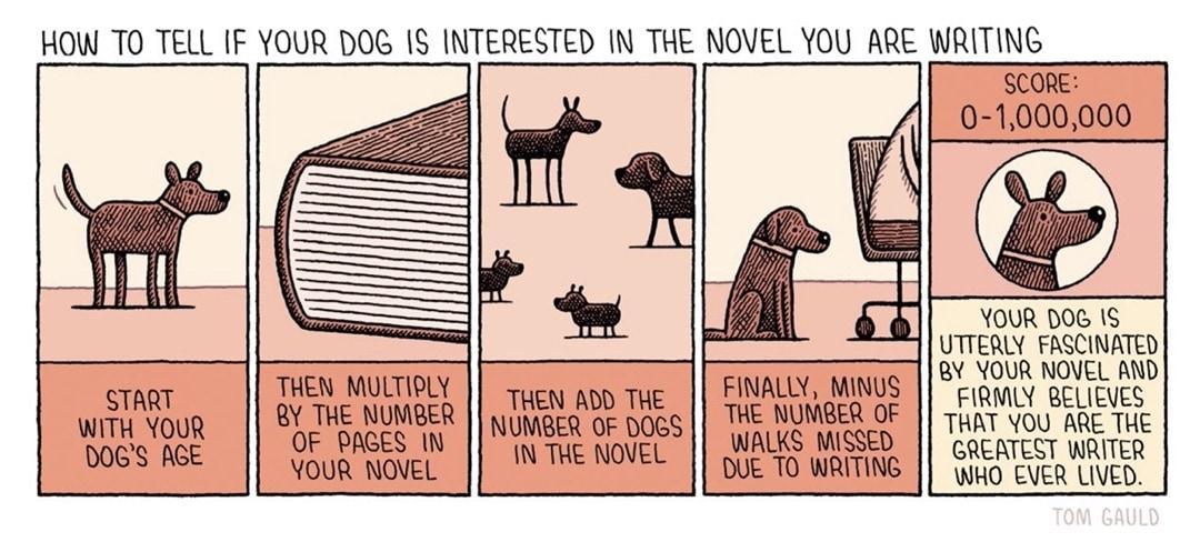 Dog likes novel you write - best cartoons about books