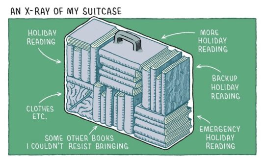 Holiday Reading by Tom Gauld - best cartoons about books