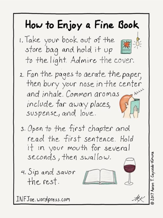 How to Enjoy a Fine Book - best cartoons about books