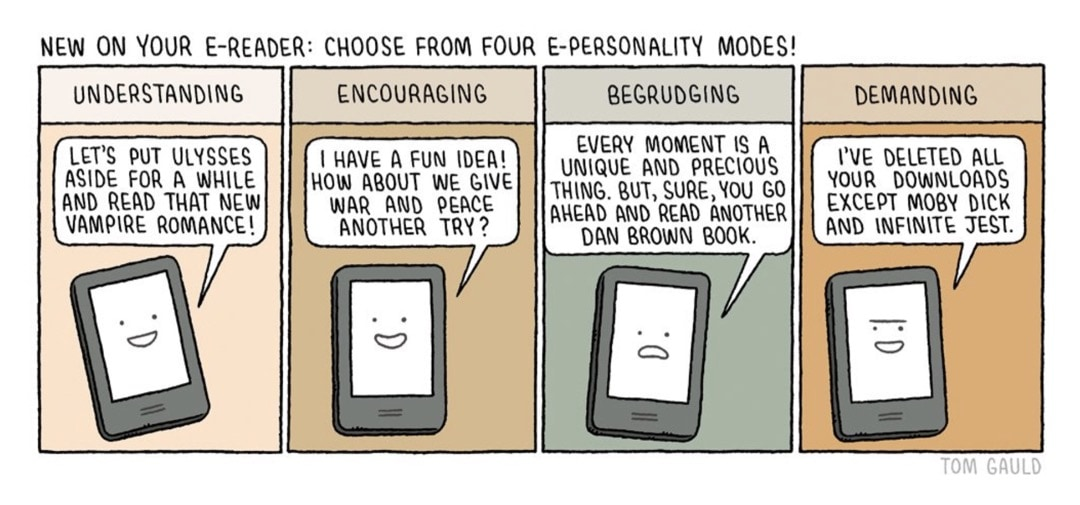 New on Your E-reader - best cartoons for book lovers - Tom Gauld