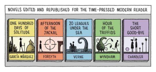 Novels for Modern Readers - best cartoons for book lovers - Tom Gauld