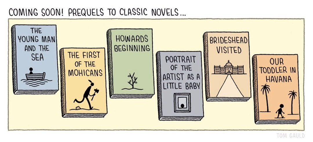 Prequels to classic novels - best cartoons about books - Tom Gauld